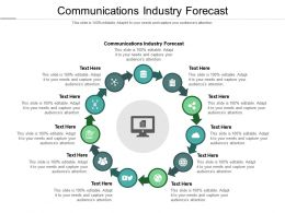 Communications Industry Forecast Ppt Powerpoint Presentation Icon Professional Cpb