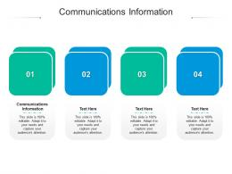 Communications Information Ppt Powerpoint Presentation Layouts Background Designs Cpb