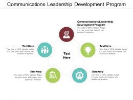 Communications Leadership Development Program Ppt Powerpoint Presentation Summary Microsoft Cpb