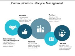 Communications Lifecycle Management Ppt Powerpoint Presentation Icon Templates Cpb