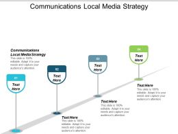 Communications Local Media Strategy Ppt Powerpoint Presentation Ideas Show Cpb