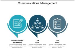 Communications Management Ppt Powerpoint Presentation Slides Show Cpb