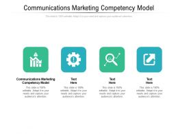 Communications Marketing Competency Model Ppt Powerpoint Presentation Model Deck Cpb