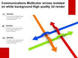 Communications Multicolor Arrows Isolated On White Background High Quality 3d Render