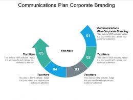 Communications Plan Corporate Branding Ppt Powerpoint Presentation Infographics Model Cpb