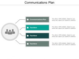 Communications Plan Ppt Powerpoint Presentation Icon Vector Cpb