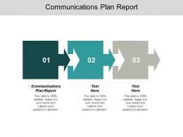 Communications Plan Report Ppt Powerpoint Presentation Summary Maker Cpb