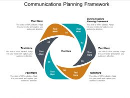 Communications Planning Framework Ppt Powerpoint Presentation File Demonstration Cpb