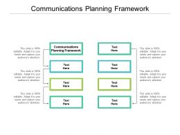 Communications Planning Framework Ppt Powerpoint Presentation Slides Background Cpb