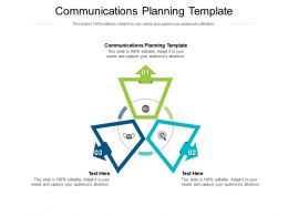 Communications Planning Template Ppt Powerpoint Inspiration Background Cpb