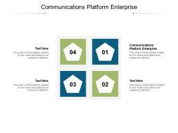 Communications Platform Enterprise Ppt Inspiration Graphics Tutorials Cpb