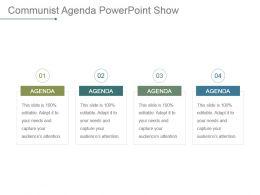 Communist Agenda Powerpoint Show