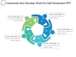 Community And Volunteer Work For Self Introduction Ppt Presentation Images