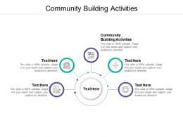 Community Building Activities Ppt Powerpoint Presentation Professional Cpb