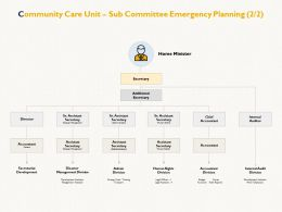 Community Care Unit Sub Committee Emergency Planning Internal Development Ppt Powerpoint Presentation Picture