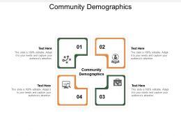 Community Demographics Ppt Powerpoint Presentation File Model Cpb