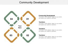 Community Development Ppt Powerpoint Presentation Gallery Deck Cpb