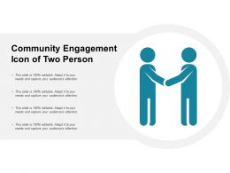 Community Engagement Icon Of Two Person