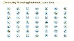 Community Financing Pitch Deck Icons Slide Ppt Inspiration Graphics Template