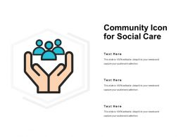 Community Icon For Social Care
