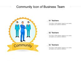 Community Icon Of Business Team