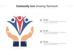 Community Icon Showing Teamwork