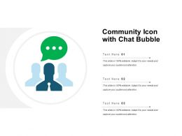 Community Icon With Chat Bubble