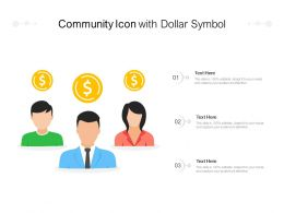 Community Icon With Dollar Symbol