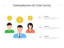 Community Icon With Dollar Symbol