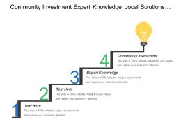 Community Investment Expert Knowledge Local Solutions Quality Standards