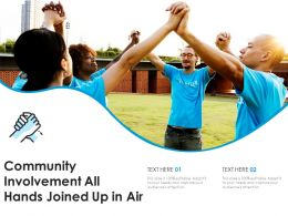 Community Involvement All Hands Joined Up In Air