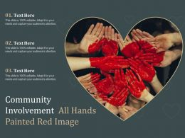 Community Involvement All Hands Painted Red Image