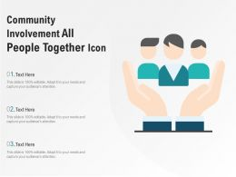 Community Involvement All People Together Icon