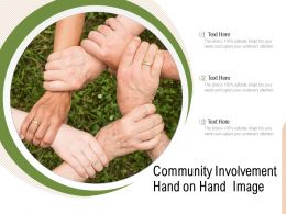 Community Involvement Hand On Hand Image