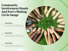 Community Involvement Hands And Feets Making Circle Image