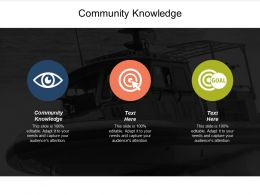 Community Knowledge Ppt Powerpoint Presentation Gallery Format Ideas Cpb