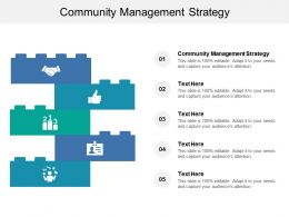 Community Management Strategy Ppt Powerpoint Presentation Show Example Cpb