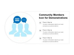 Community Members Icon For Demonstrations
