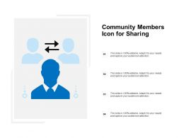 Community Members Icon For Sharing