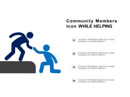 Community Members Icon While Helping