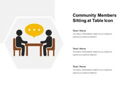 Community Members Sitting At Table Icon