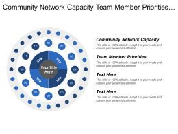 Community Network Capacity Team Member Priorities Organizational Capacity