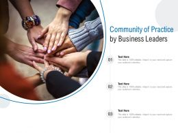Community Of Practice By Business Leaders