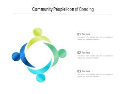 Community People Icon Of Bonding
