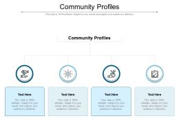 Community Profiles Ppt Powerpoint Presentation Pictures Background Images Cpb