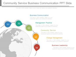 Community Service Business Communication Ppt Slide