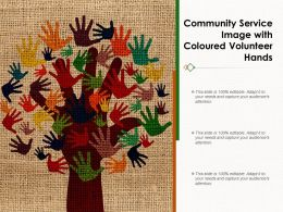 Community Service Image With Coloured Volunteer Hands