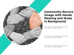 Community Service Image With Hands Meeting And Grass In Background