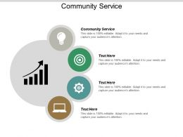 Community Service Ppt Powerpoint Presentation Pictures Format Ideas Cpb