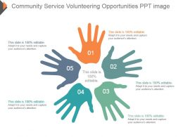 Community Service Volunteering Opportunities Ppt Image